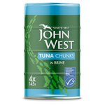 John West MSC Tuna Chunks Brine