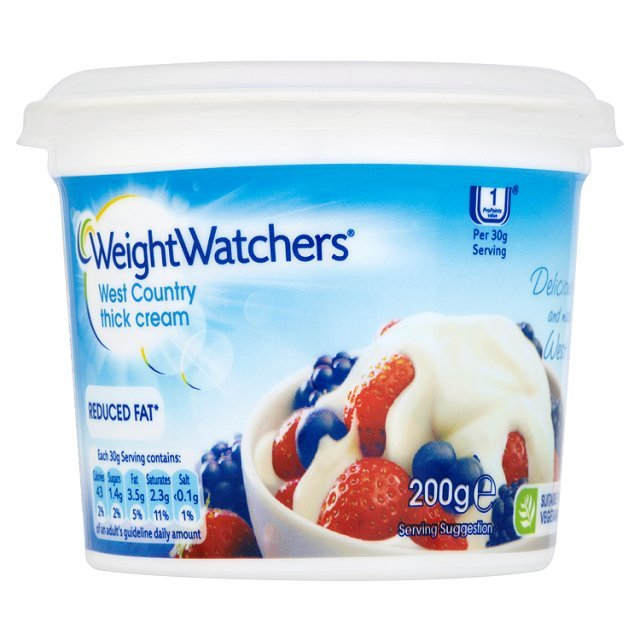 Weight Watchers Reduced Fat Thick Cream