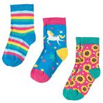 Frugi Girls Organic Socks Unicorn