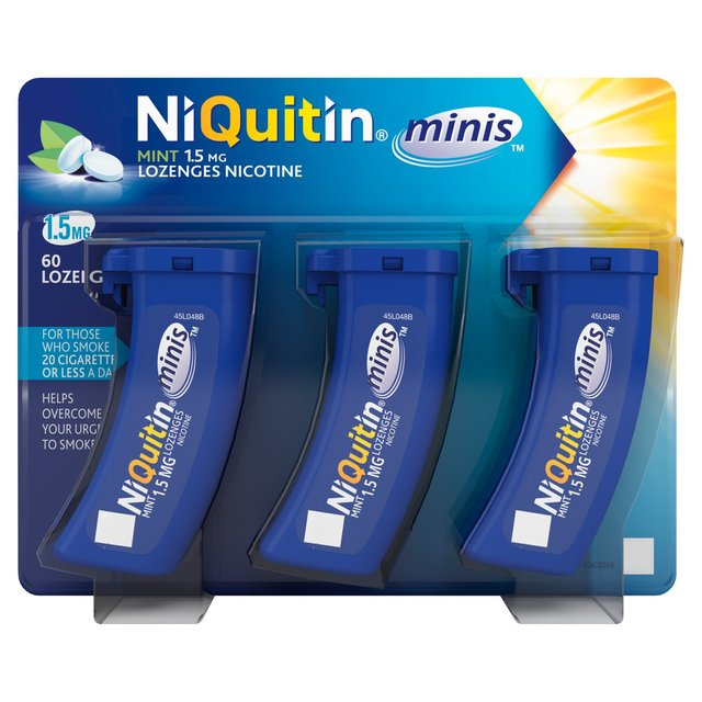 NiQuitin Minis Low Strength Mint Lozenges, 1.5mg