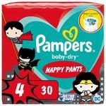 Pampers Baby Dry Superhero Pants S4, 30 Nappy Pants 30 per pack