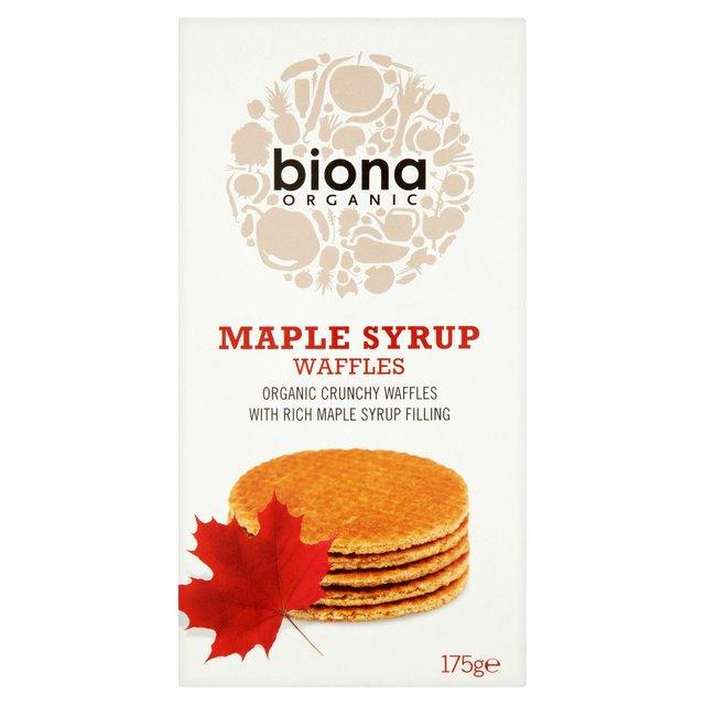 Biona Organic Waffles Maple Syrup 175g from Ocado
