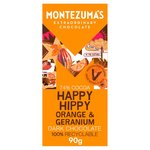 Montezuma's Dark with Orange & Geranium Bar