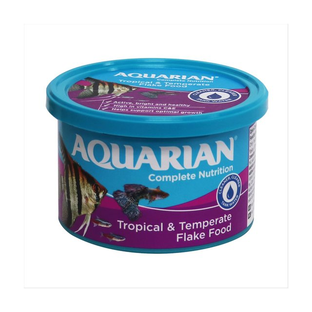 Aquarian tropical fish food flakes 50g from ocado for Aquarium fish food