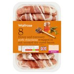 Waitrose Honey & Rosemary Pork Chipolatas Wrapped In Bacon