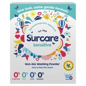 Surcare Non Bio Fragrance Free Laundry Powder 25 Washes
