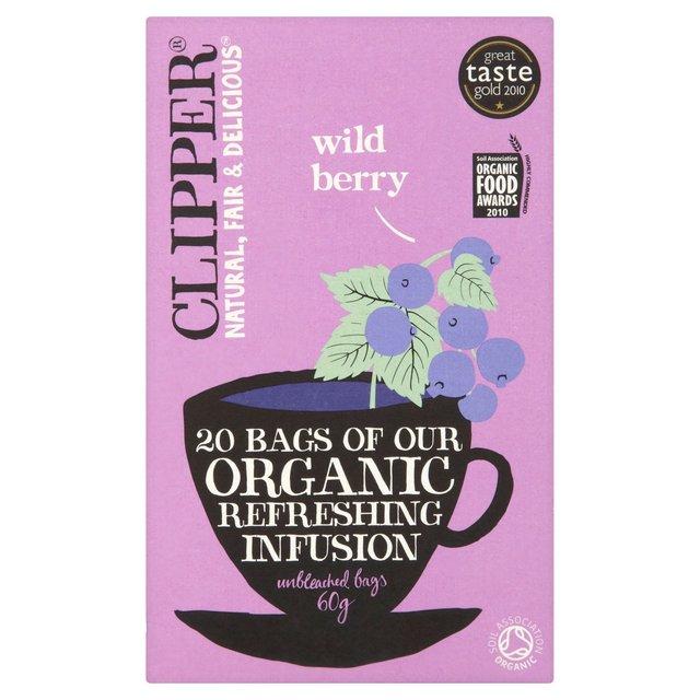 clipper organic wild berry infusion tea bags 20 per pack. Black Bedroom Furniture Sets. Home Design Ideas