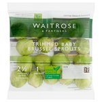 Waitrose Ready Trimmed Baby Sprouts