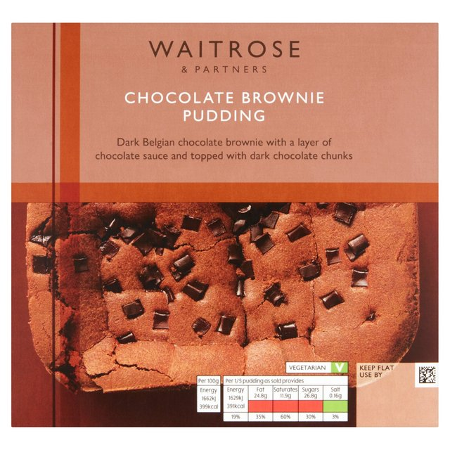 Waitrose Chocolate Brownie Pudding 490g from Ocado