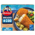 Birds Eye 4 Large Cod Fillets in Breadcrumb Frozen