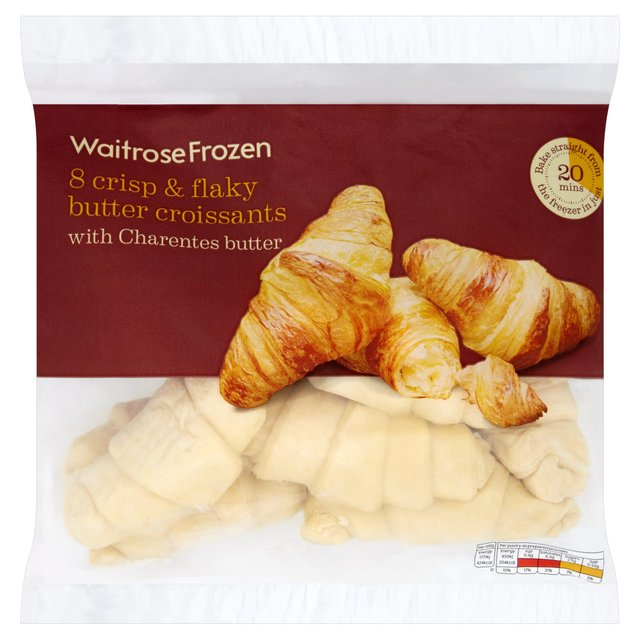Waitrose 8 Frozen Butter Croissants 440g From Ocado