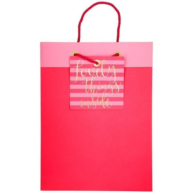 M&S Large Pink Gift Bag | Ocado