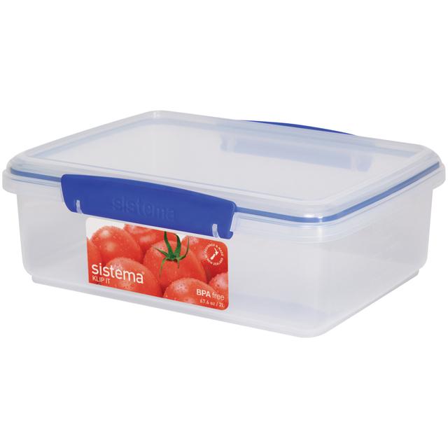Sistema Klip It Rectangular Plastic Container 2L Blue