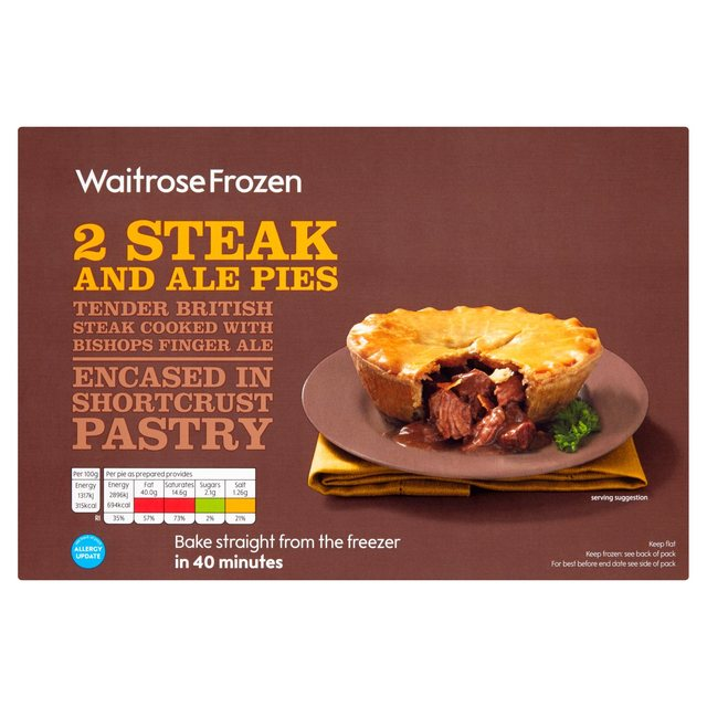 Steak & Ale Pies Frozen Waitrose