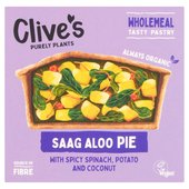 Clive's Organic Wholewheat Saag Aloo Curry Pie