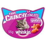 Whiskas Trio Crunchy Cat Treats Seafood Flavours