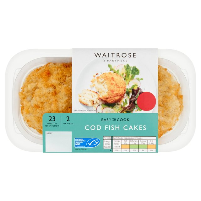 Easy to Cook Cod Mornay Fish Cakes Waitrose
