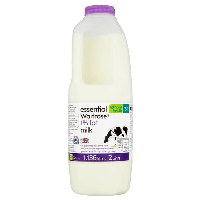 1% Milk 2 Pint essential Waitrose