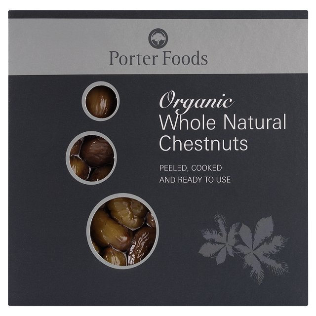 Porters Organic Whole Chestnuts
