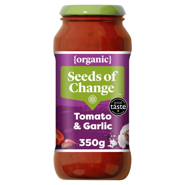 Seeds Of Change Tomato & Garlic Pasta Sauce 350g from Ocado