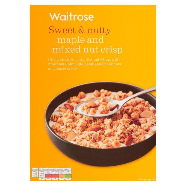 Seriously Maple & Mixed Nut Crisp Waitrose 500g from Ocado