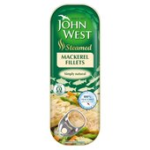 John West Steam Cooked Mackerel Fillets Natural