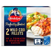 Birds Eye 2 Cod Fillets In Tomato & Rosemary Sauce Frozen