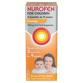 Nurofen for Children Sugar Free Orange Liquid