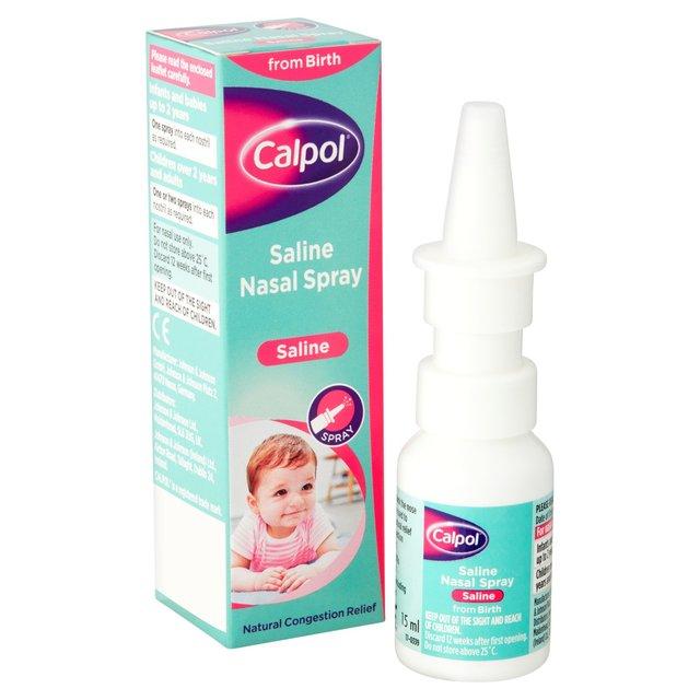 Calpol Nasal Saline Spray 0mths 15ml From Ocado