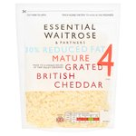 Essential Waitrose Lighter Mature Grated Cheese