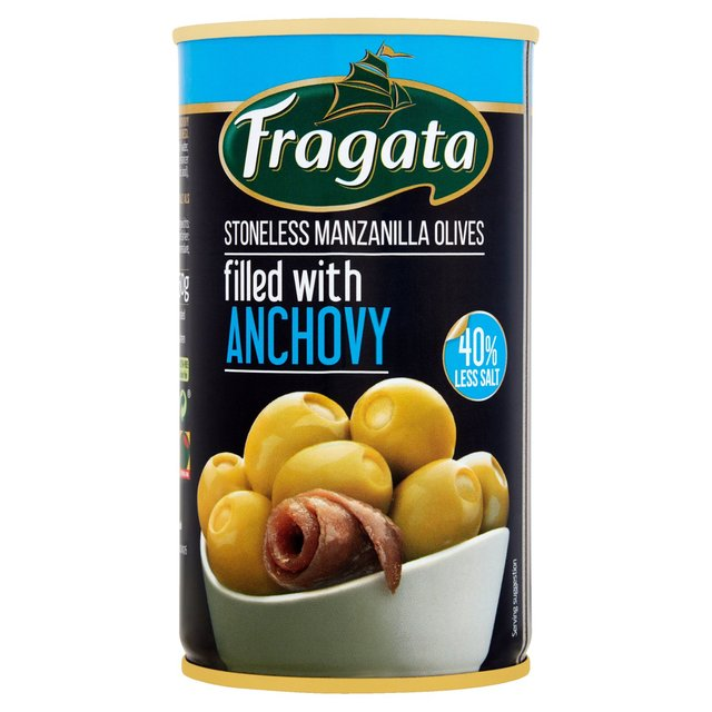 Fragata Olives Stuffed with Anchovy Reduced Salt