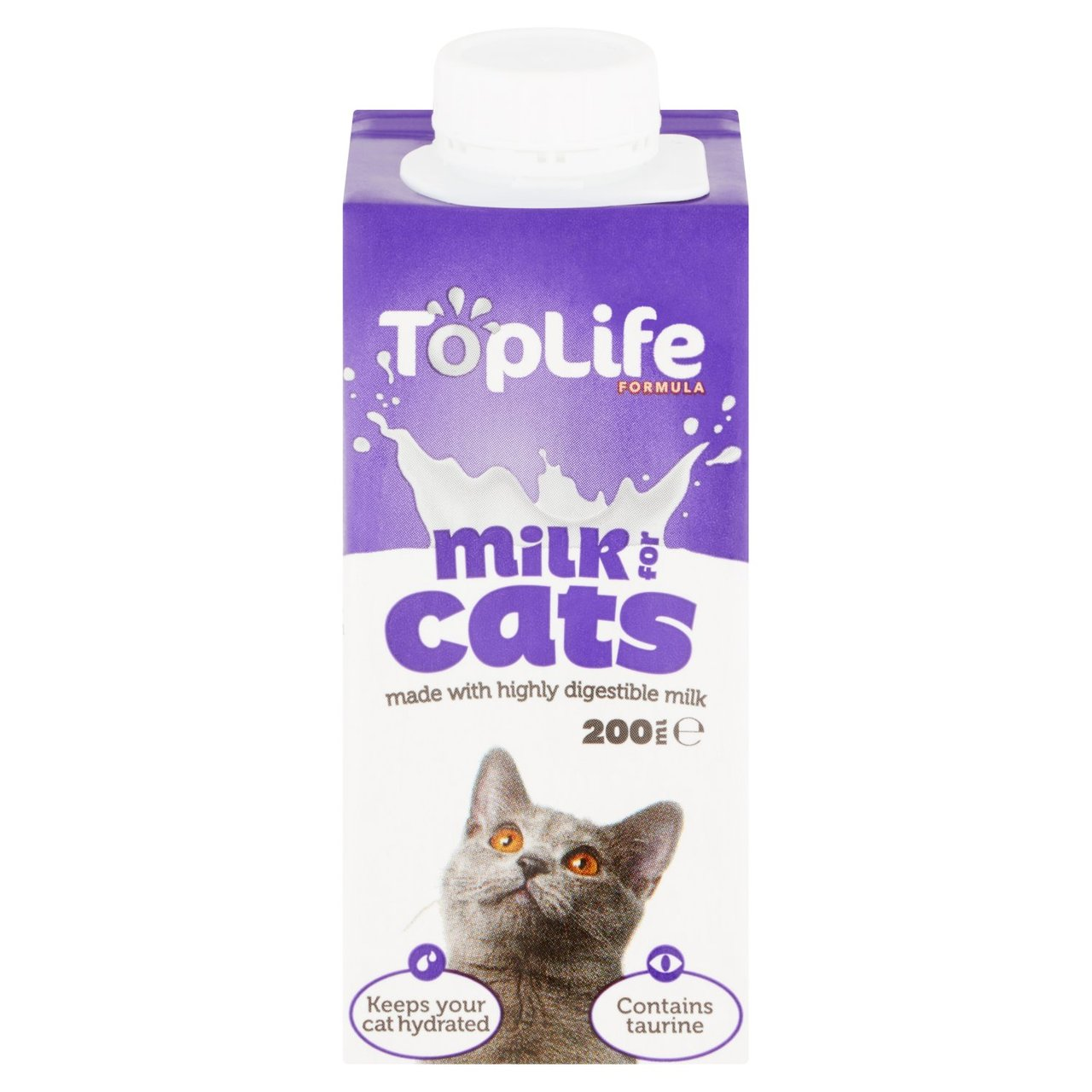 An image of TopLife Lactose Reduced Cows Milk for Cats