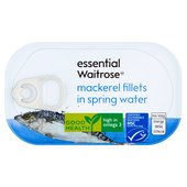 Essential Waitrose Mackerel in Spring Water
