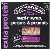 Eat Natural Gluten Free Maple Syrup, Pecans, Peanuts Bars