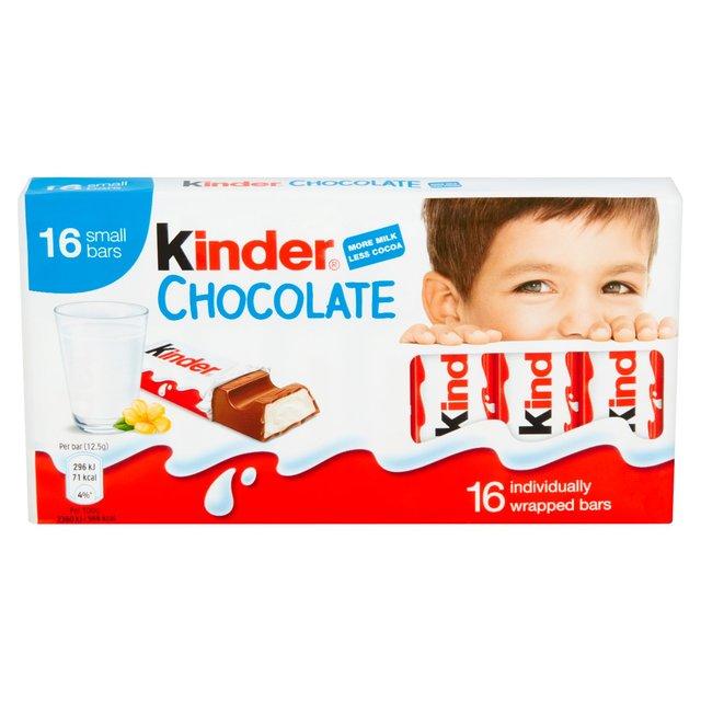 Kinder Chocolate 16 Mini Treats 200g from Ocado