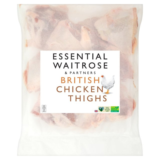 Essential Waitrose Frozen British Chicken Thighs