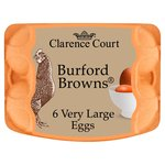 Clarence Court Burford Browns Free Range Very Large Eggs