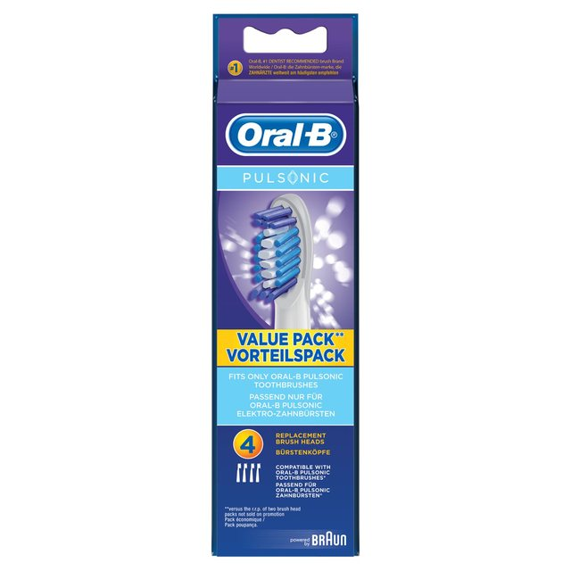 Oral-B Brush Heads Pulsonic 4 per pack