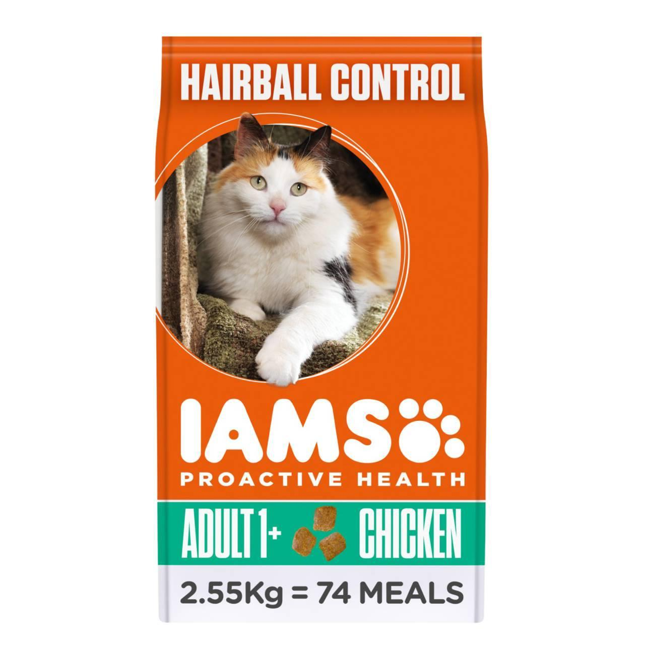 An image of Iams Adult Dry Cat Food Hairball