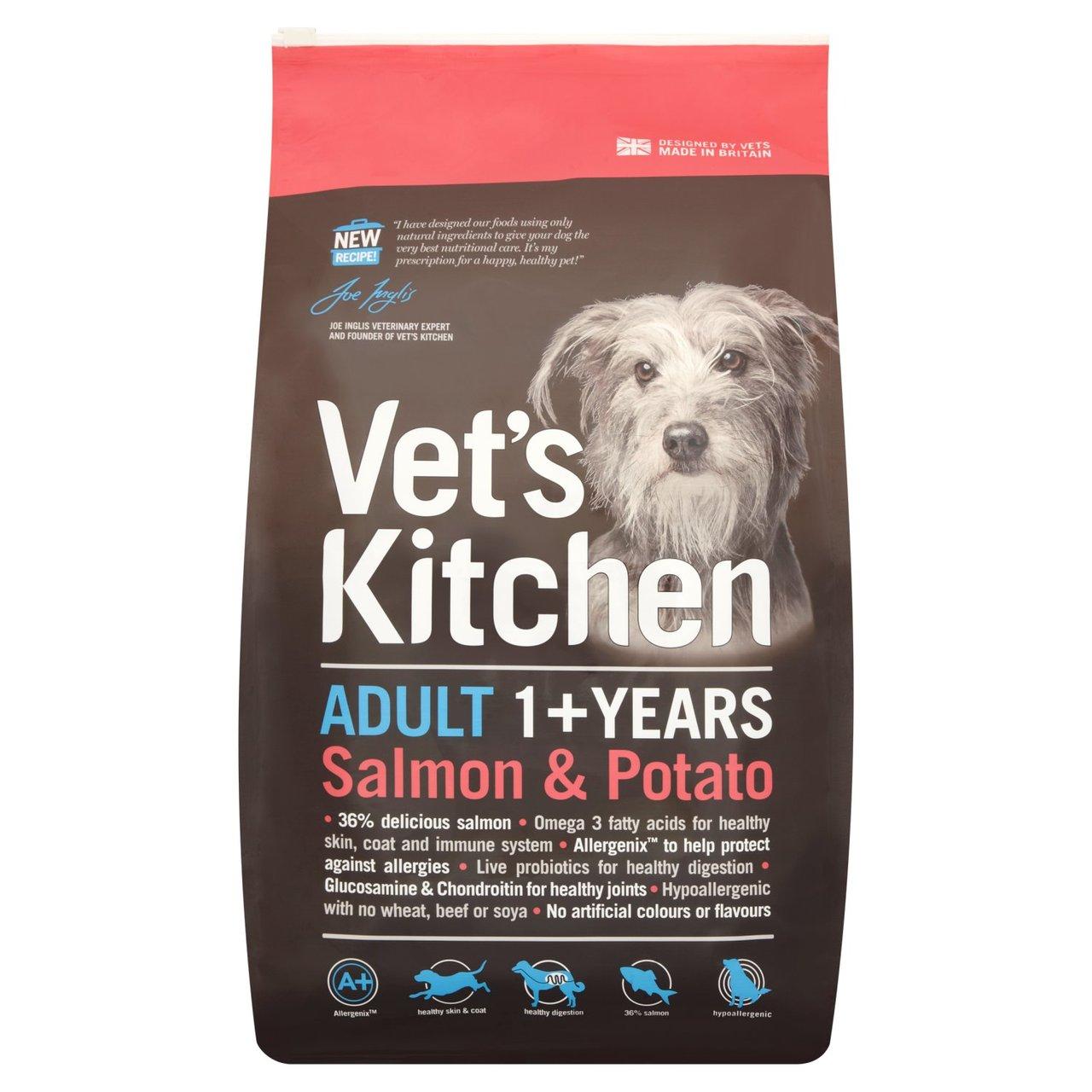 An image of Vets Kitchen Adult Dog Salmon & Potato