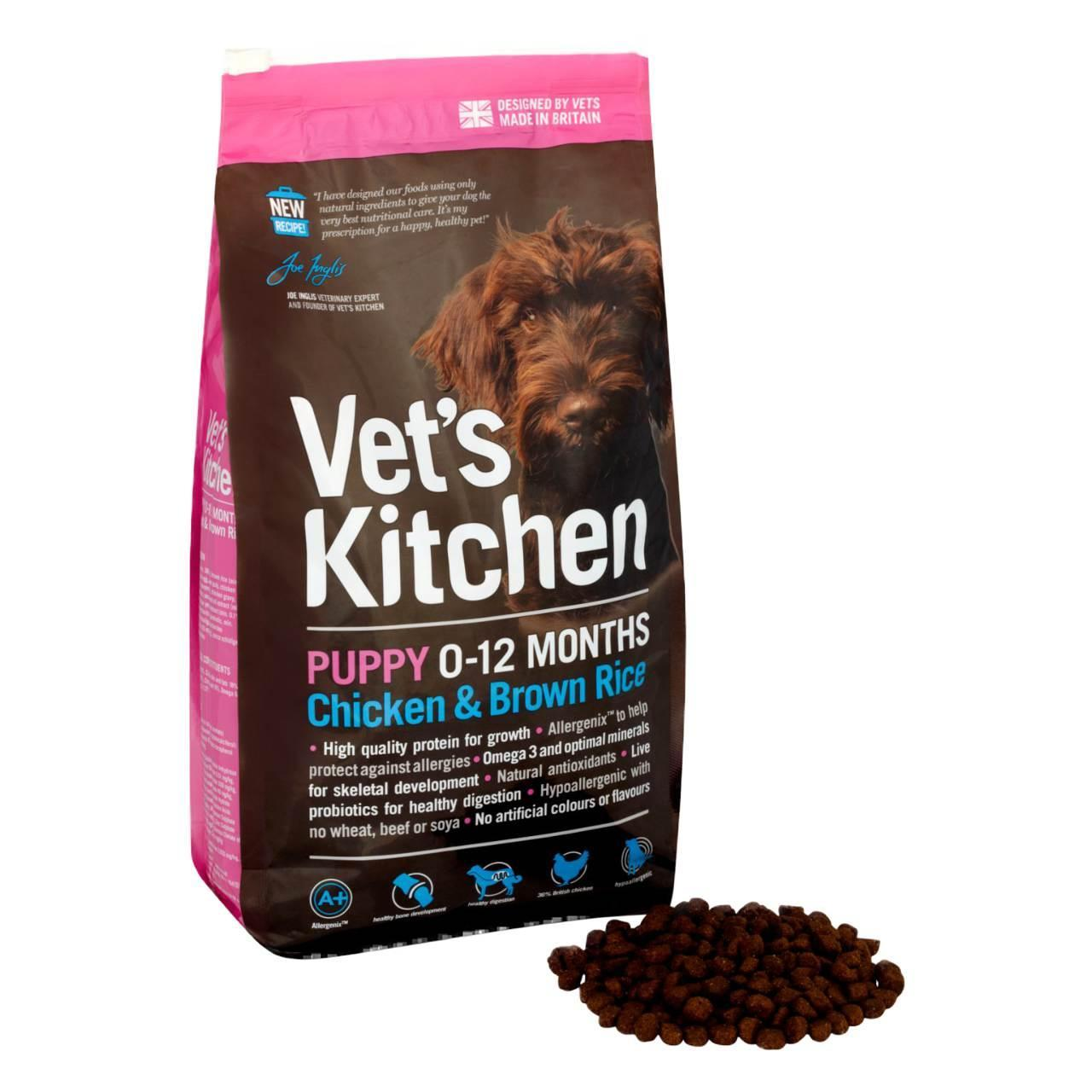 An image of Vets Kitchen Puppy Chicken & Brown Rice