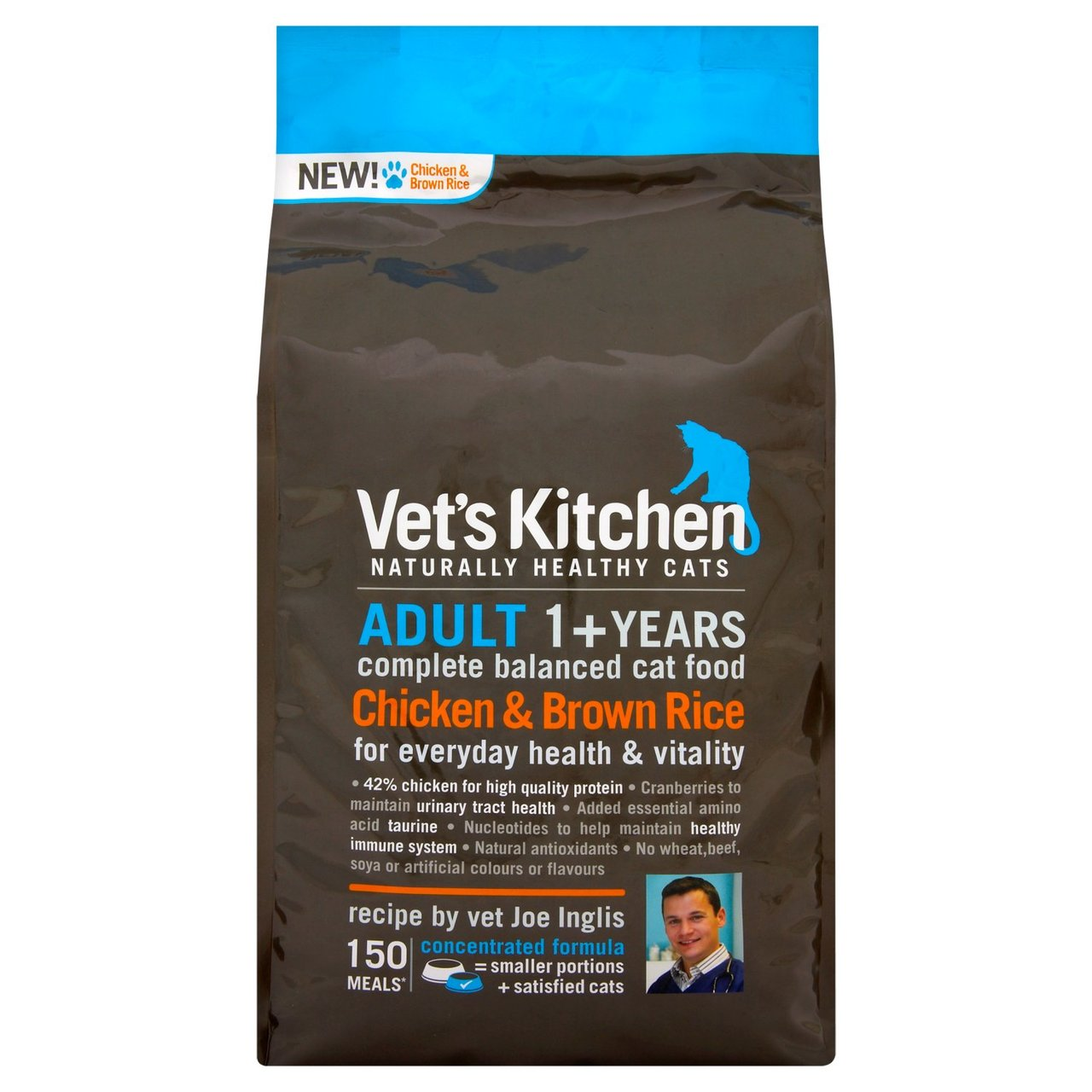 An image of Vets Kitchen Adult Cat Chicken & Rice