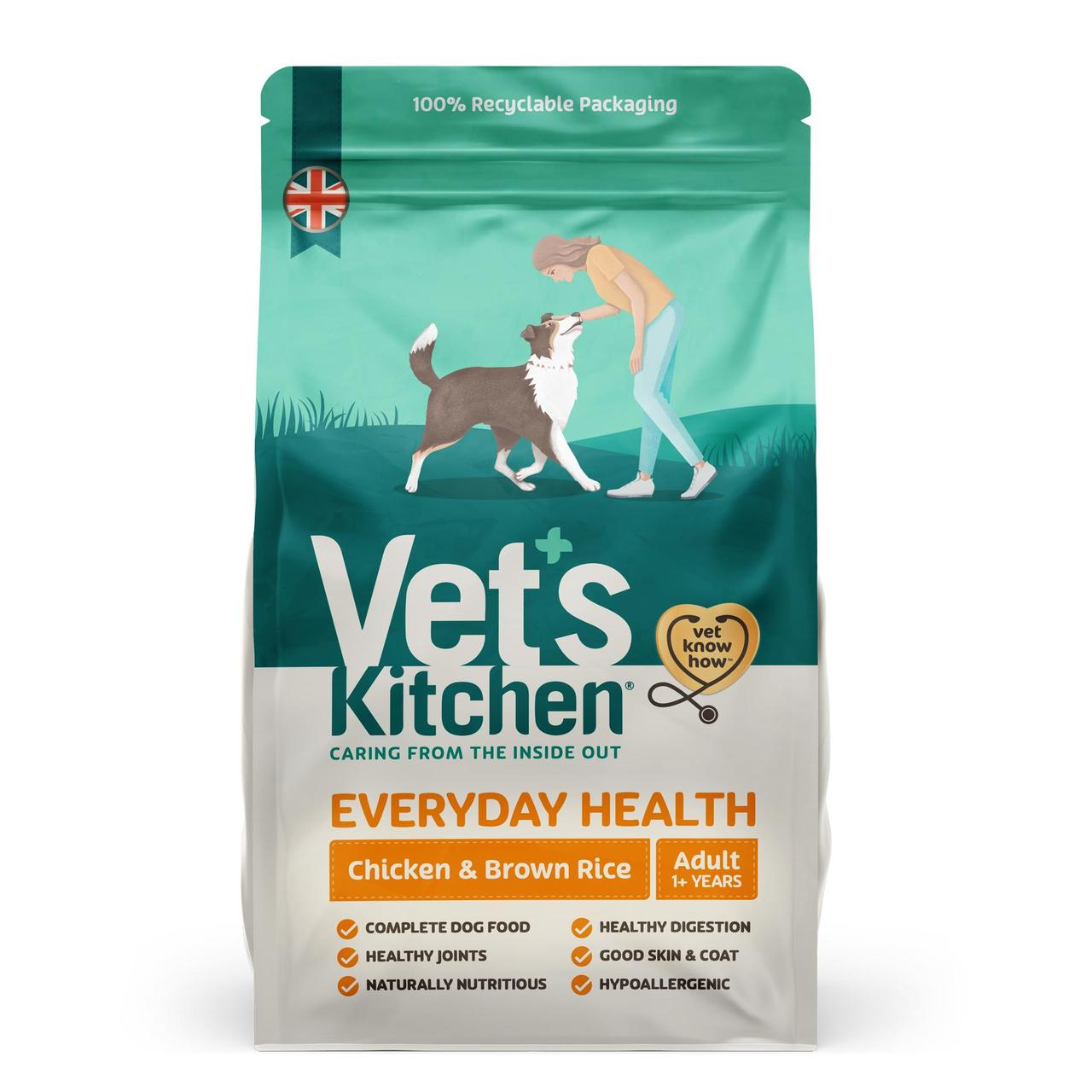 An image of Vets Kitchen Adult Dog Chicken & Brown Rice