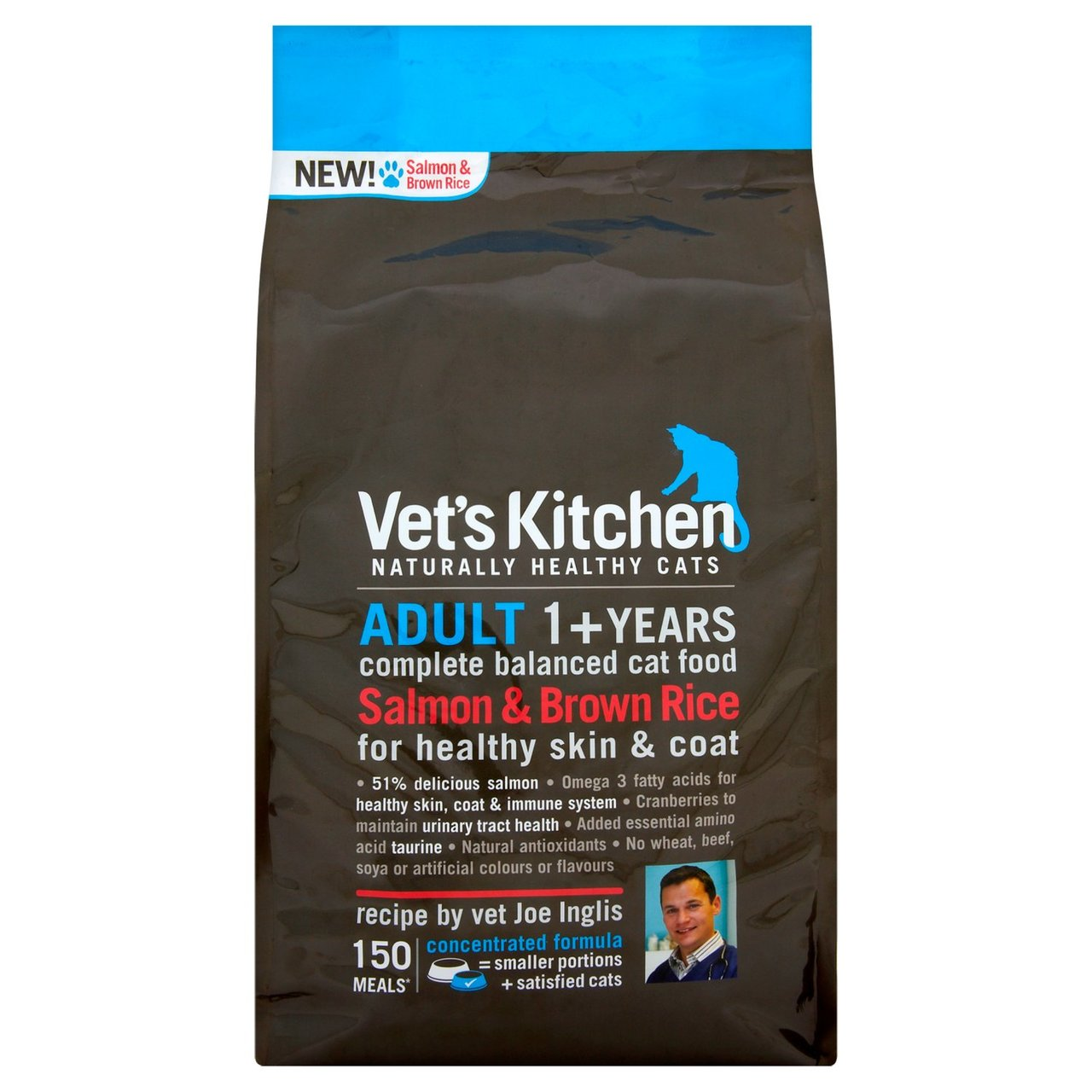 An image of Vets Kitchen Adult Cat Salmon & Brown Rice