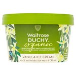 Waitrose Duchy Organic Vanilla Ice Cream Fairtrade