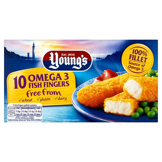 Young's 10 Gluten, Wheat & Dairy Free From Fish Fingers Frozen