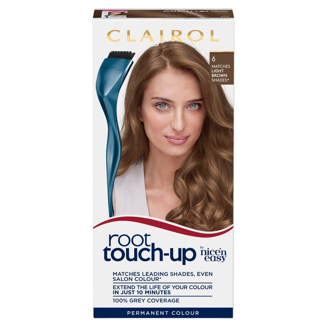 Nice N Easy Root Touch Up Hair Dye Light Brown 6 From Ocado