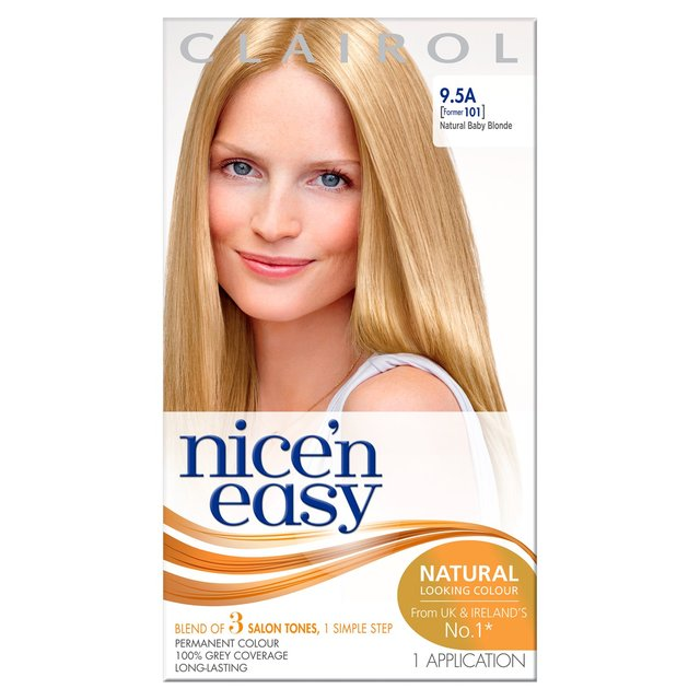Nice N Easy Hair Dye Natural Baby Blonde 9 5a From Ocado