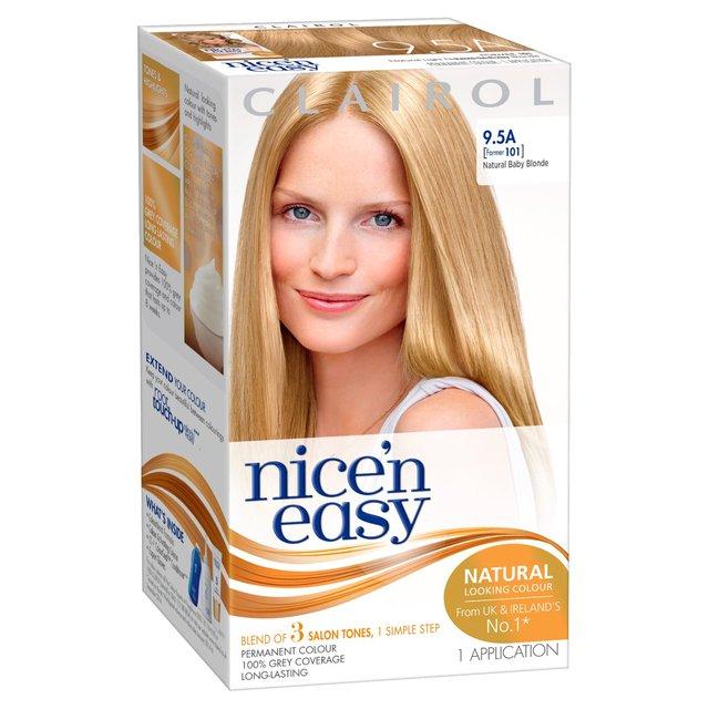 Nice N Easy Hair Dye Natural Baby Blonde 9 5a From Ocado