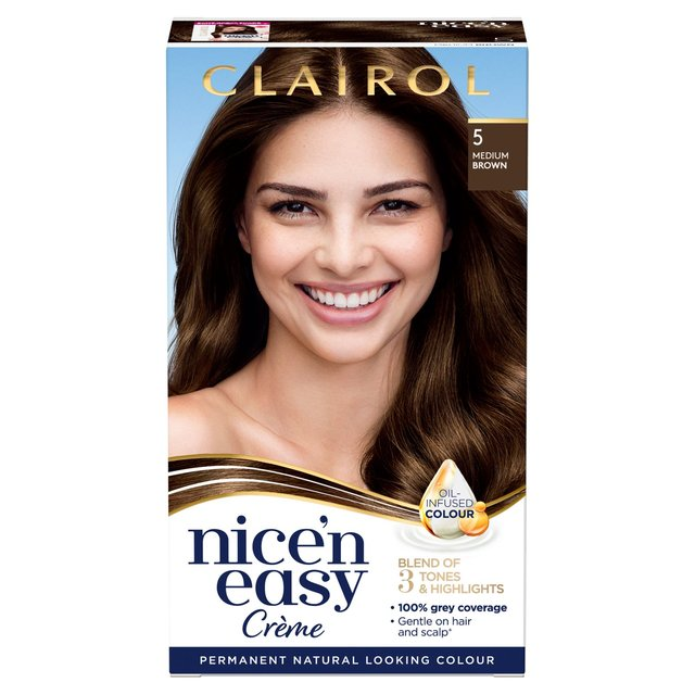 Save nice and easy hair dye to get e-mail alerts and updates on your eBay Feed. + Items in search results. SPONSORED. Clairol Nice and Easy 5c Natural Medium Cool Brown Dye Hair Color Lot 2 Boxes. Brand New · Clairol · Medium Brown. out of 5 stars.